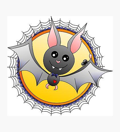 Little Halloween Bat Photographic Print