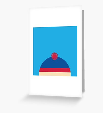 """South Park """"Stan"""" Minimalist ICONS (1/4) Greeting Card"""