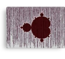 Mandelbrot Set Matrix Code (Red Oxblood Maroon) Canvas Print