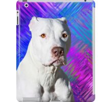 White American Pit Bull Terrier Dog iPad Case/Skin