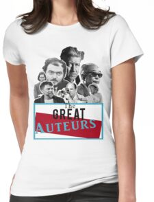 Great Auteurs - Filmmakers (WITH outline) Womens Fitted T-Shirt