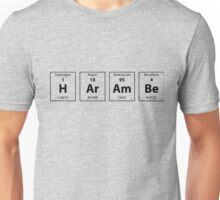 Periodic Table of HArAmBe (Black) Unisex T-Shirt