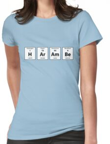 Periodic Table of HArAmBe (Alt) Womens Fitted T-Shirt