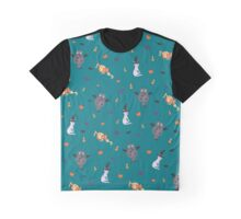 Happy Meowloween - Streumuster / Pattern Graphic T-Shirt