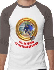 Sonic the Hedgehog - Rolling Around At The Speed of Sound Men's Baseball ¾ T-Shirt