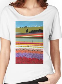 Tip-Toeing through the Tulips Women's Relaxed Fit T-Shirt