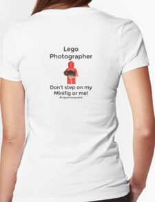 Lego Photographer Womens Fitted T-Shirt