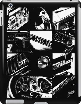 Ford Falcon XY GT (12 Grid BW) by blulime