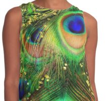 Fantasy Peacock Feathers laden with gold Contrast Tank