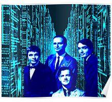Kraftwerk Blue electric city design. 2016-1017 Tour! Poster