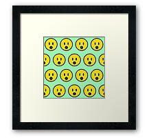 Surprise emoji texture Framed Print
