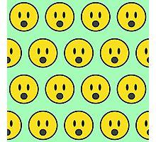 Surprise emoji texture Photographic Print