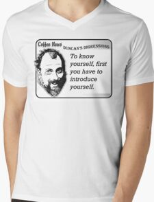 To know yourself, first you have to introduce yourself. Mens V-Neck T-Shirt