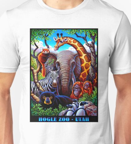 HOGLE ZOO, UTAH; Vintage Advertising Print Unisex T-Shirt