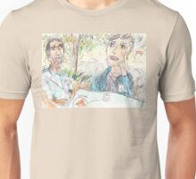 Rajath and James Discussing No-Self at the Rushcutters Bay Tennis Kiosk Unisex T-Shirt
