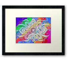 Psychedelic Flower Mandala Framed Print
