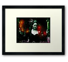 Dark Lady Programmed to Laugh Framed Print