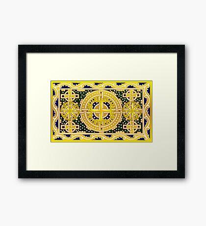 Golden Hand of God Framed Print