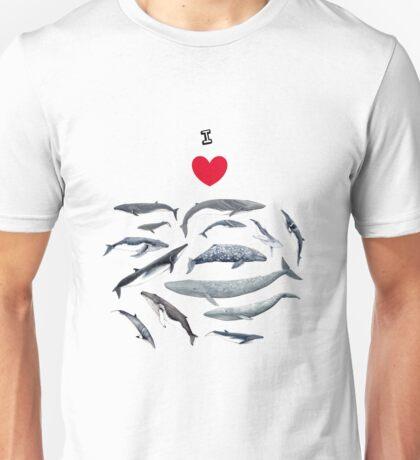 I love whales! Unisex T-Shirt