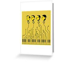 Kraftwerk keyboard circuit design! 2016-2017 tour! Greeting Card