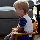 Max watching Thomas the Train by KSKphotography