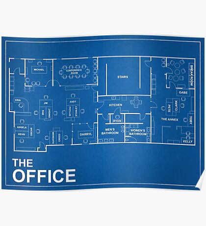 The Office Blue Print  Poster