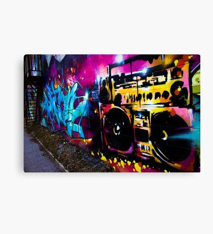 Boombox Graffiti Canvas Print