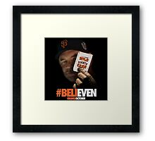 Giants Wild Card: #BeliEVEN Framed Print