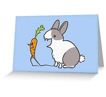 Vampire Bunny Rabbit with Unfortunate Carrot Greeting Card