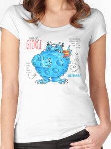Descriptive George! Women's Fitted Scoop T-Shirt