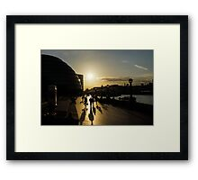 London Silhouettes  Framed Print