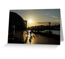 London Silhouettes  Greeting Card