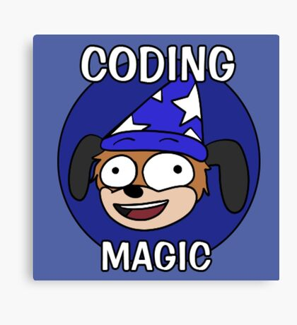 Coding Magic! Canvas Print
