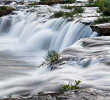 Cascading West Virginia Waterfall by Kenneth Keifer