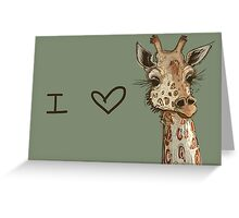 Lovely Lashes Giraffe Greeting Card