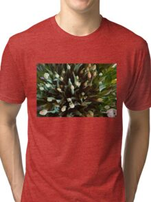 COLORFUL SPREAD OF TULIPS Tri-blend T-Shirt