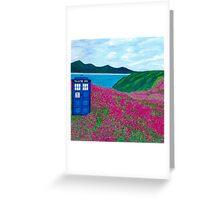 TARDIS: Flower Stop Greeting Card