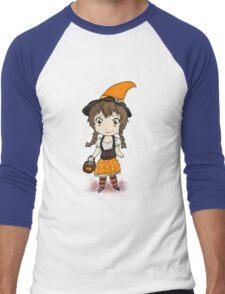 Cute Candycorn Witch Men's Baseball ¾ T-Shirt