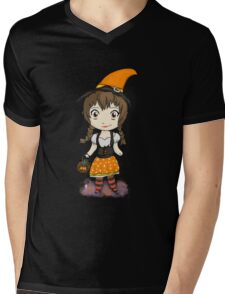 Cute Candycorn Witch Mens V-Neck T-Shirt