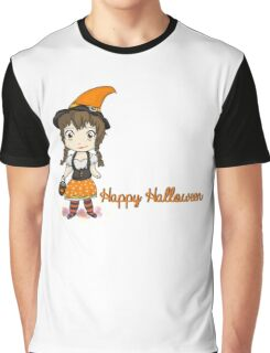 Cute Candycorn Witch Graphic T-Shirt