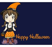 Cute Candycorn Witch Photographic Print