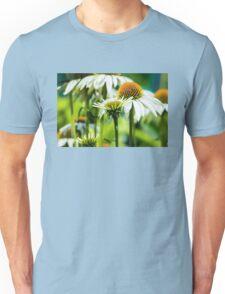 WHITE CONE DAISIES Unisex T-Shirt