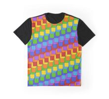 Rainbow stacked cubes Graphic T-Shirt