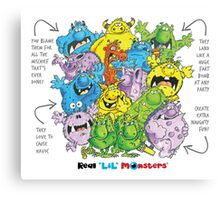 Descriptive Monster group! Canvas Print