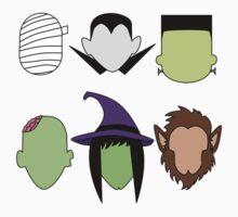 Kawaii Halloween Monsters Kids Tee