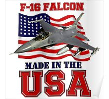 F-16 Falcon Made in the USA Poster