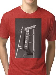 Route 66 - Aztec Motel Tri-blend T-Shirt