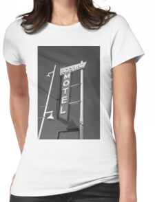 Route 66 - Aztec Motel Womens Fitted T-Shirt