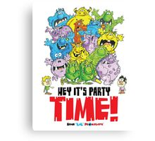 Descriptive Monster Party time! Canvas Print