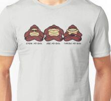 Throw No Evil Monkeys Unisex T-Shirt